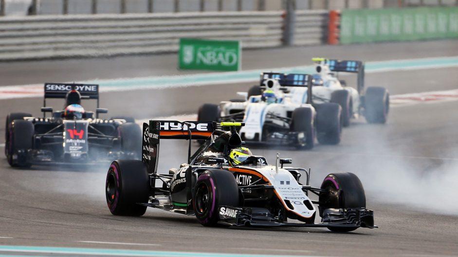 Sergio Perez, Force India, Yas Marina, 2016