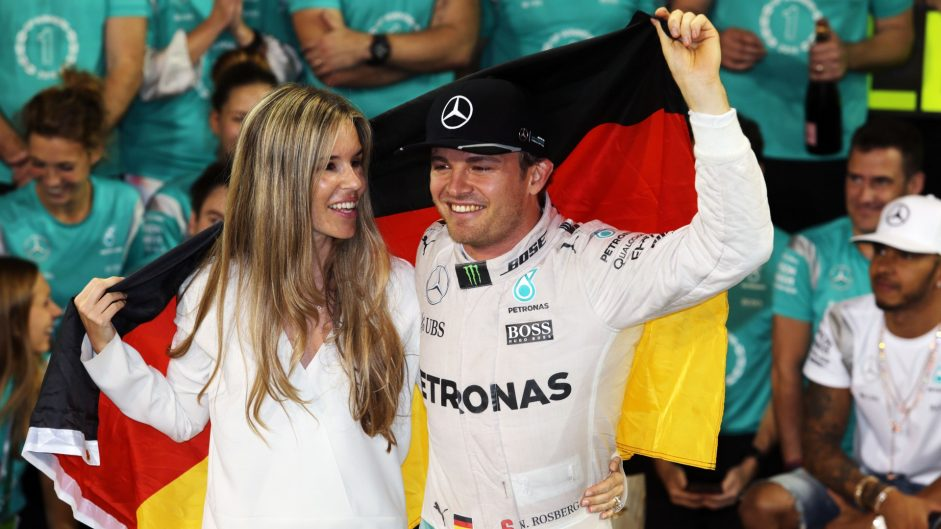 Rosberg celebrates his championship victory