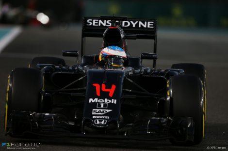 Fernando Alonso, McLaren, Yas Marina, 2016