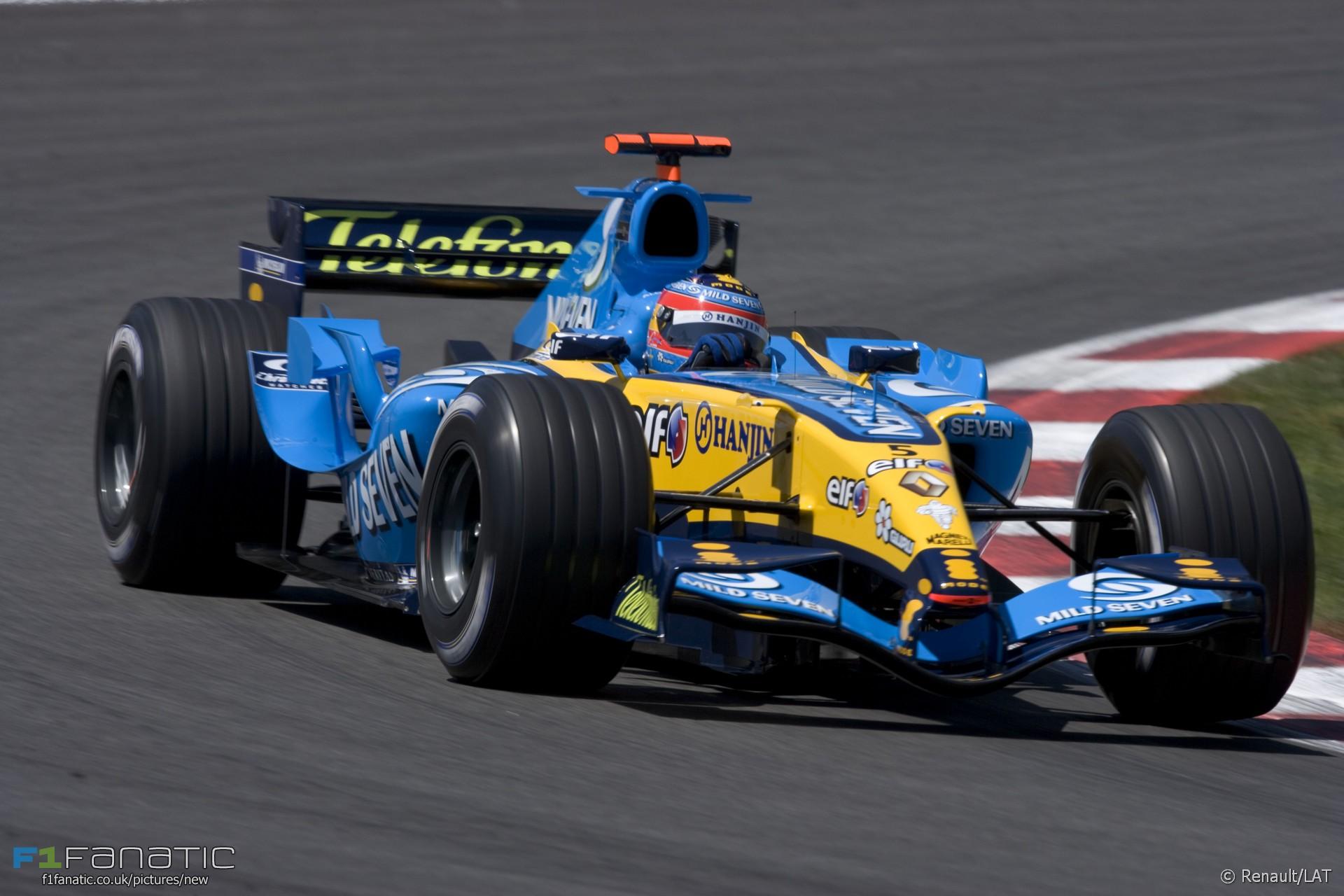 Fernando Alonso, Renault, Circuit de Catalunya, 2005