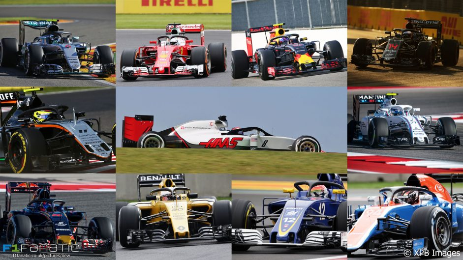 How the entire F1 field looks with the Halo