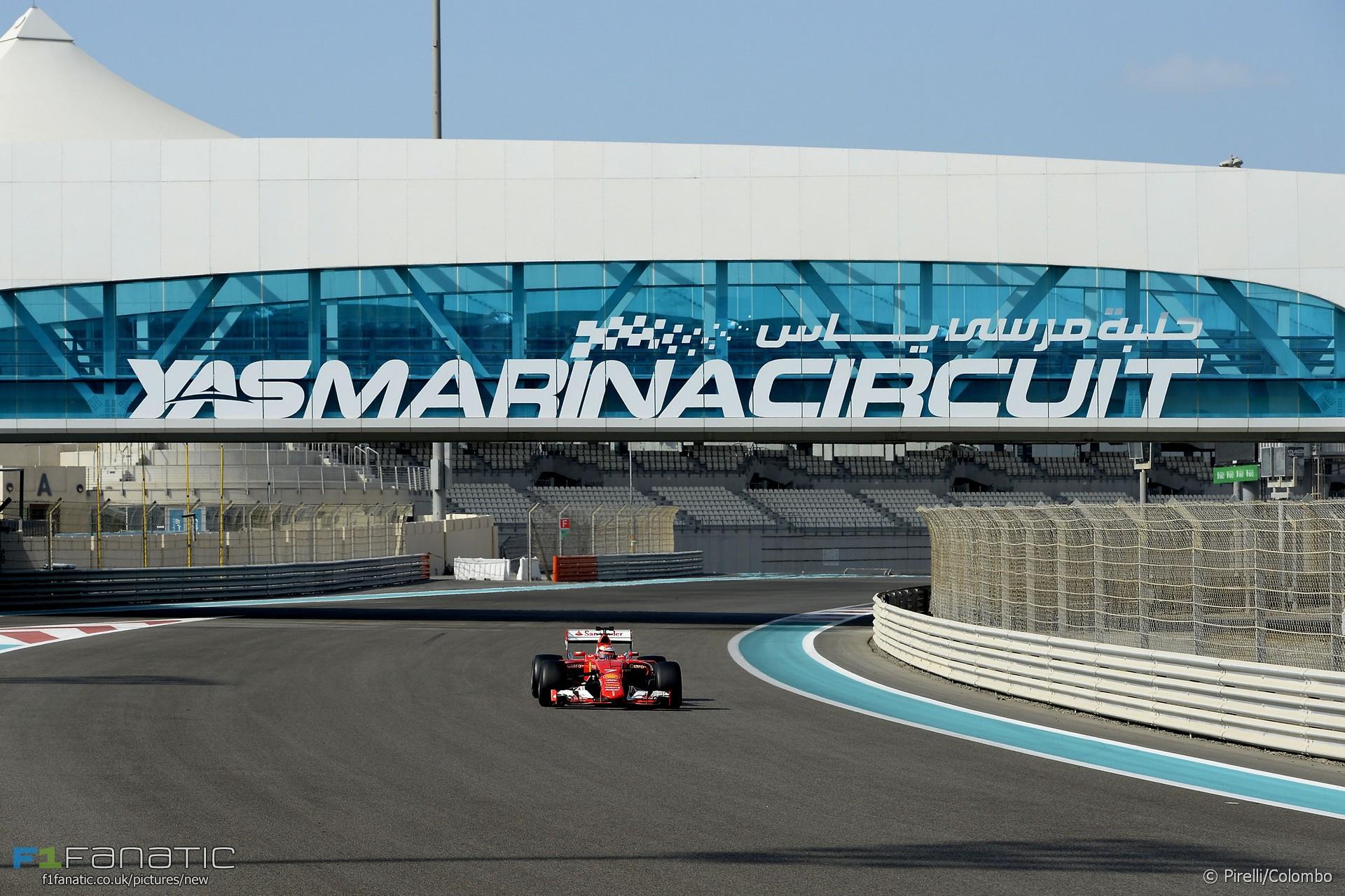 Kimi Raikkonen, Ferrari, Yas Marina, 2016
