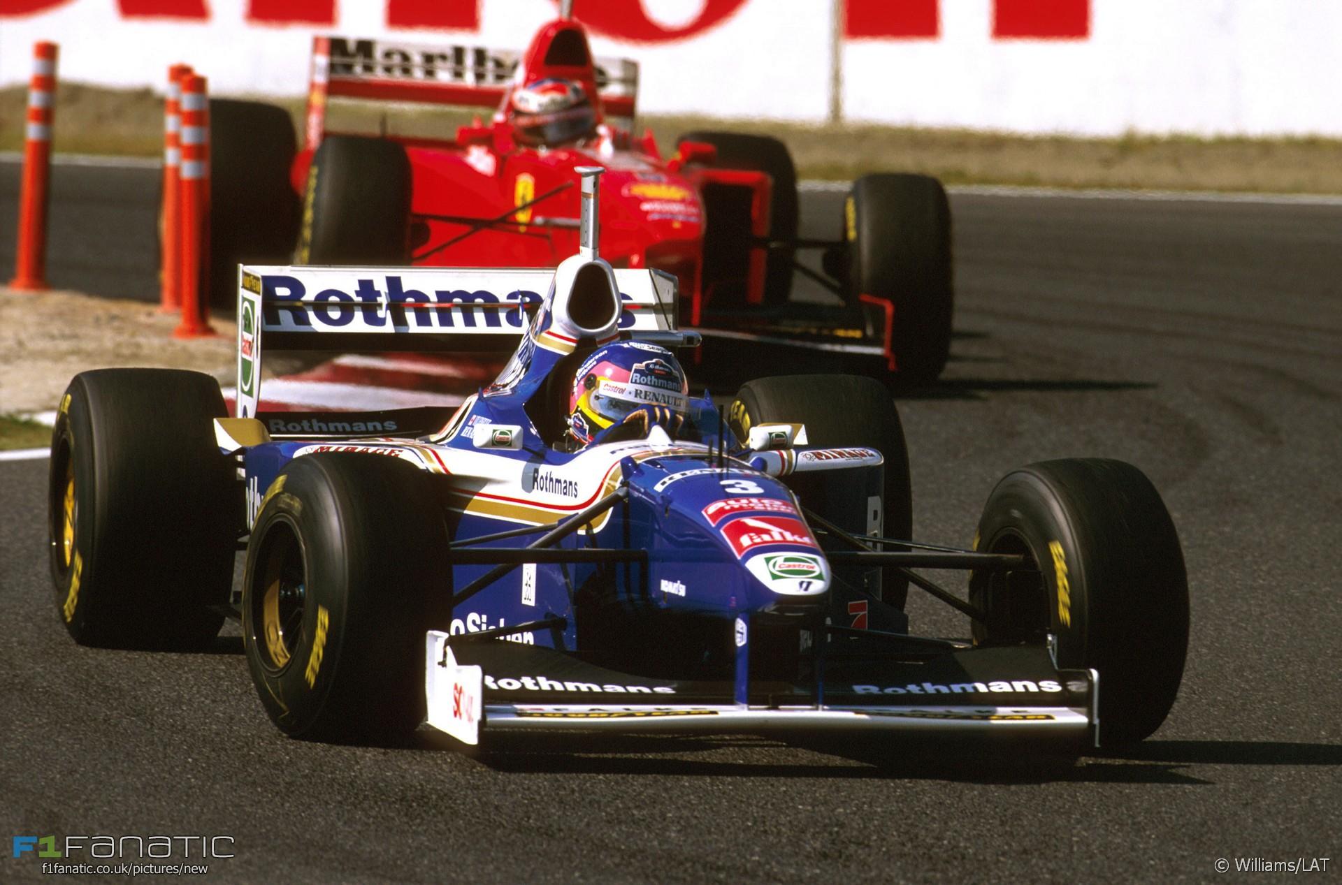Jacques Villeneuve, Michael Schumacher, Suzuka, 1997