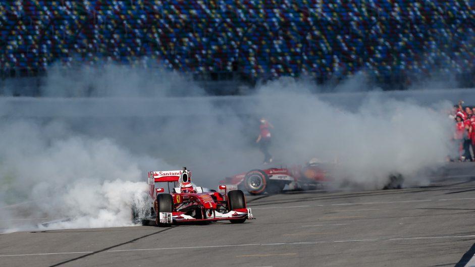 Kimi Raikkonen, Sebastian Vettel, Ferrari F60, Ferrari World Final, Daytona, 2016