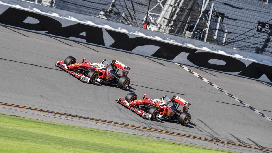 Sebastian Vettel, Kimi Raikkonen, Ferrari F60, Ferrari World Final, Daytona, 2016