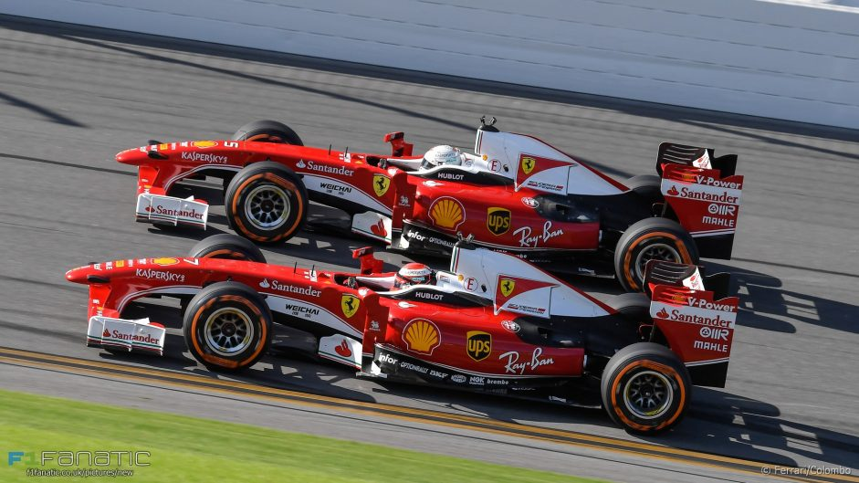 Vettel and Raikkonen hit the oval at Daytona