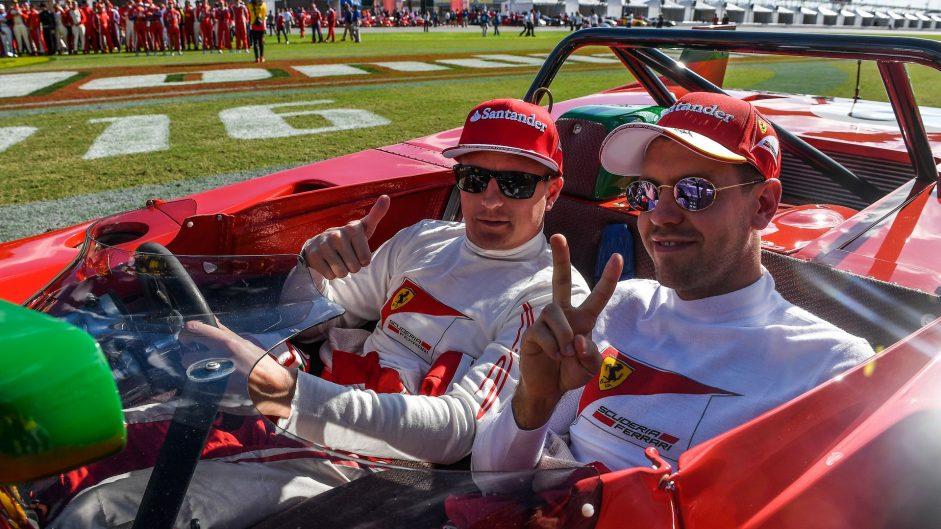 Kimi Raikkonen, Sebastian Vettel, Ferrari World Final, Daytona, 2016