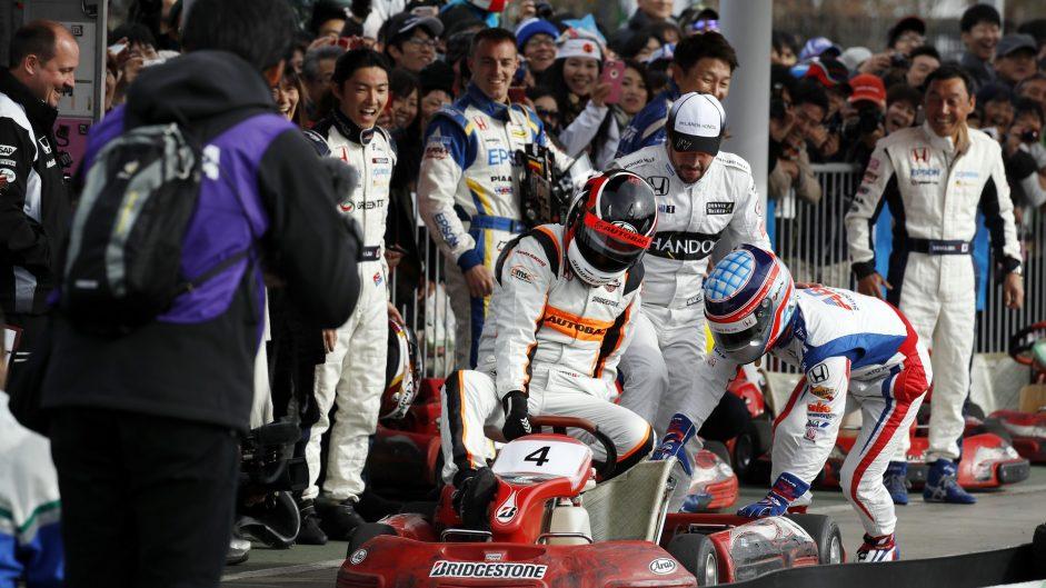 Fernando Alonso, Takuma Sato, Motegi, 2016