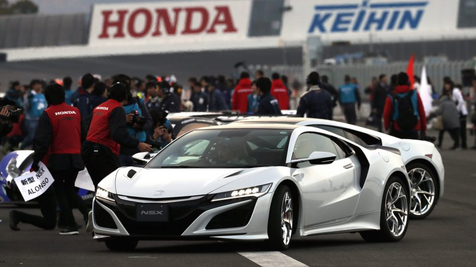 Fernando Alonso, Honda NSX, Honda Thanks Day, Motegi, 2016