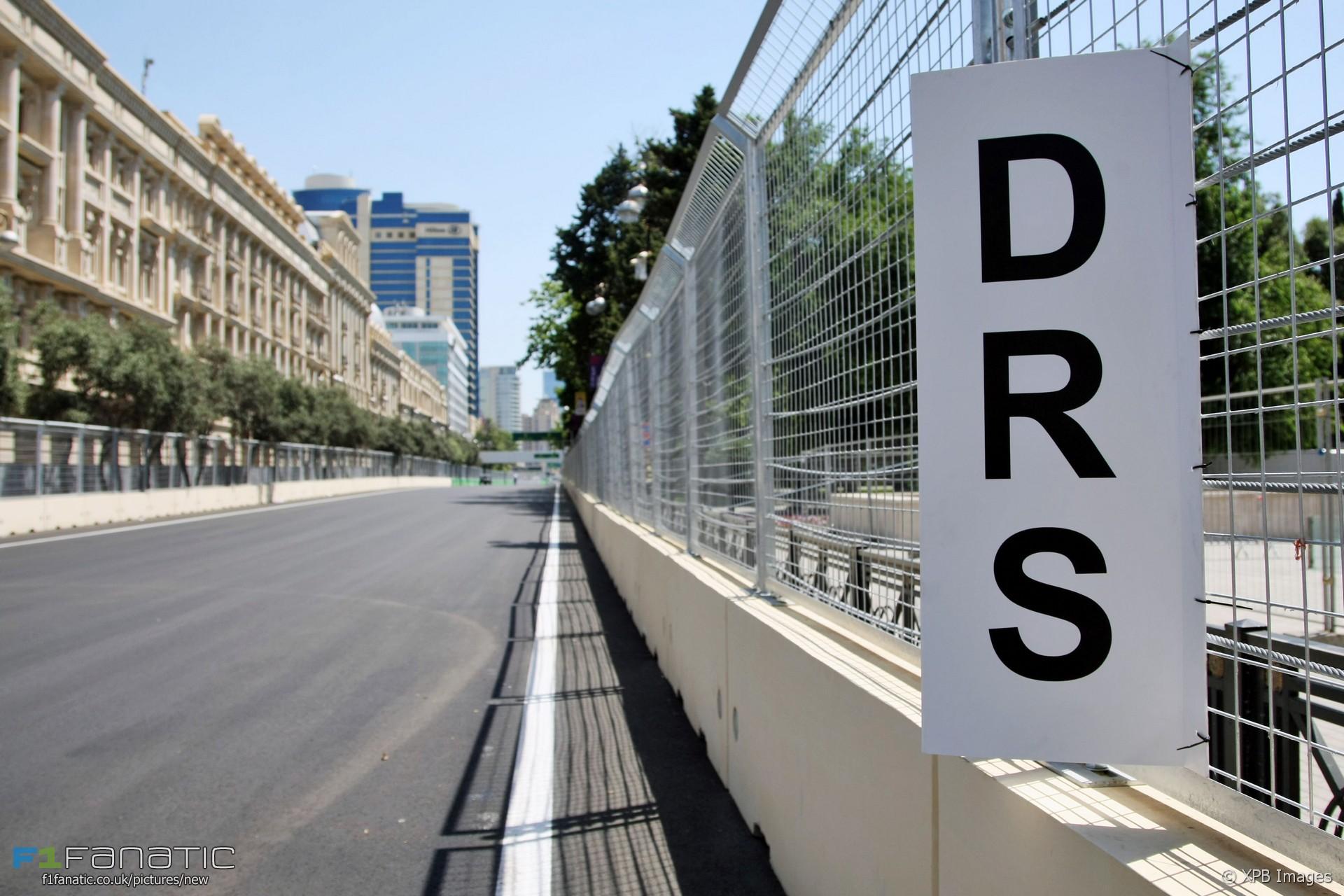 DRS zone, Baku City Circuit, 2016