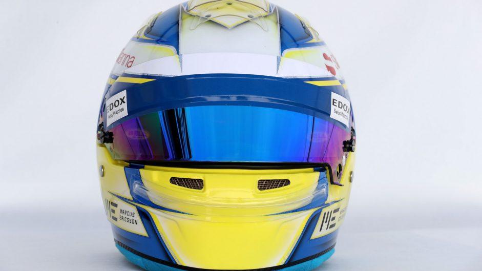 Marcus Ericsson helmet, Sauber, 2017