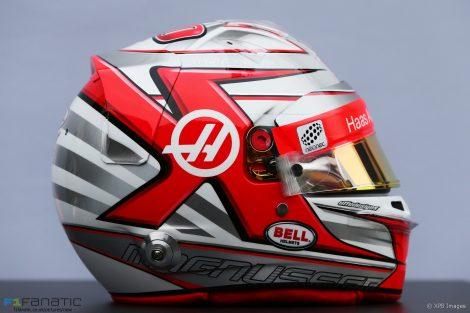 Kevin Magnussen helmet, Haas, 2017
