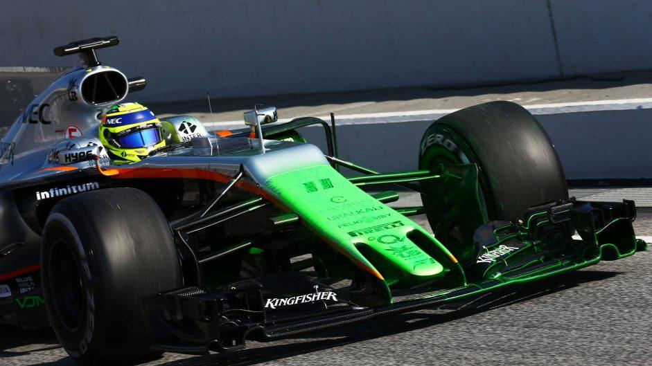 Sergio Perez, Force India, Circuit de Catalunya, 2017