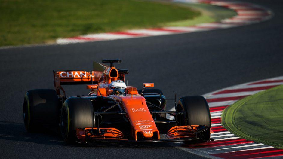 Fernando Alonso, McLaren, Circuit de Catalunya, 2017