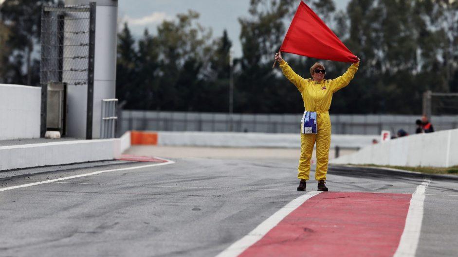 Red flag, Circuit de Catalunya, 2017