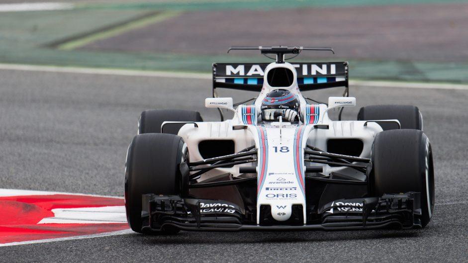Lance Stroll, Williams, Circuit de Catalunya, 2017