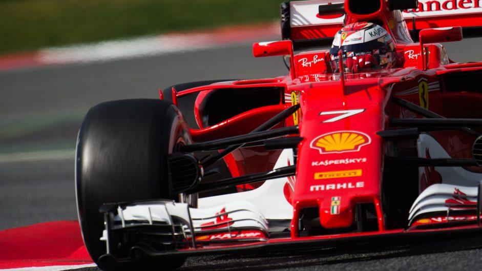 Raikkonen edges Ferrari ahead on day two