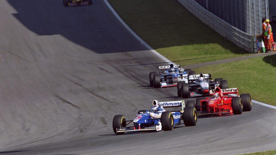 Schumacher's yellow flag penalty helps Villeneuve slash his points lead