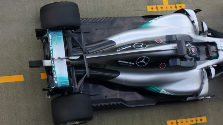 Valtteri Bottas, Mercedes W08, Silverstone, 2017