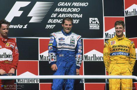 Eddie Irvine, Jacques Villeneuve, Ralf Schumacher, Buenos Aires, 1997