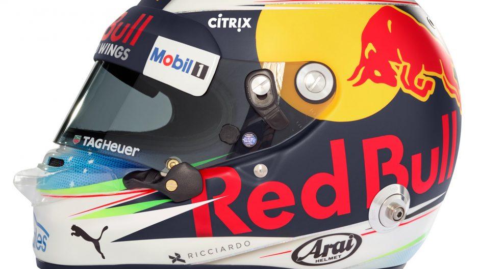Daniel Ricciardo helmet, Red Bull, 2017