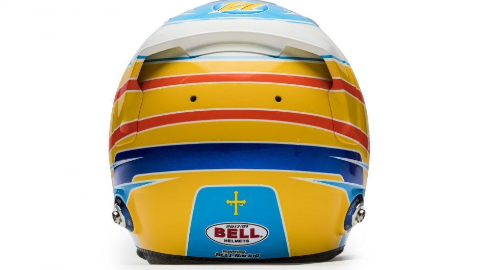 Fernando Alonso, helmet, 2017