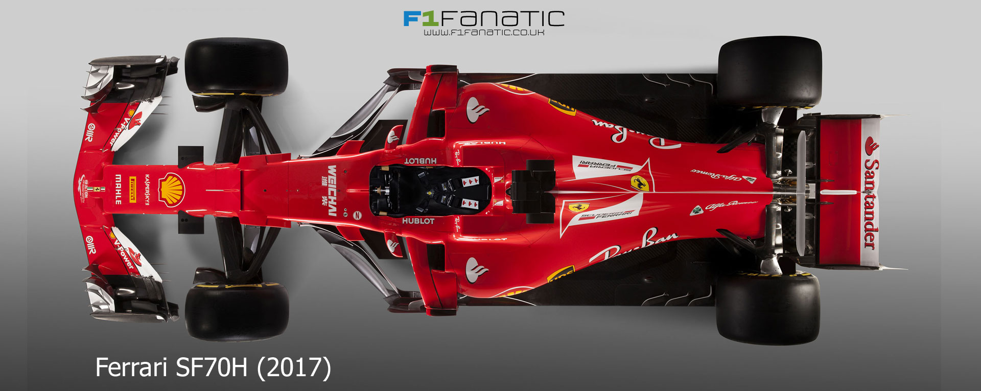Ferrari S Top Down View Of Its 2017 Car Gives An Excellent Basis For Comparison With Last Year Model The Diameter Front Wheels Is Unchanged
