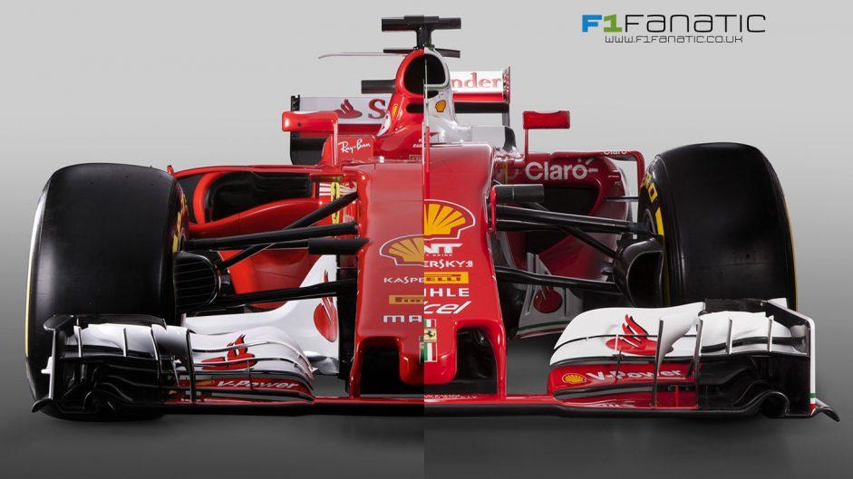 Compare the new 2017 Ferrari with last year's model