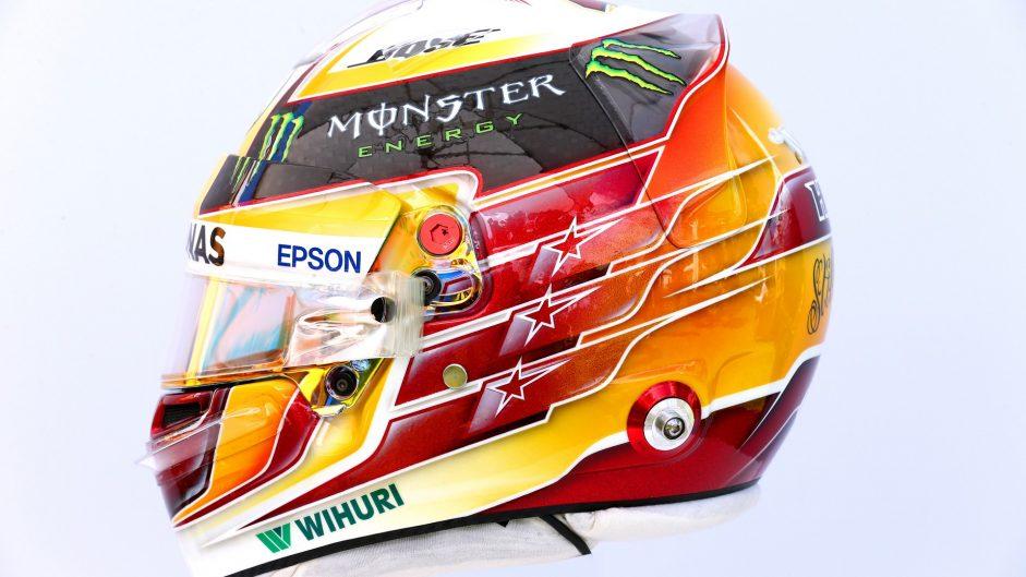Lewis Hamilton helmet, Mercedes, 2017