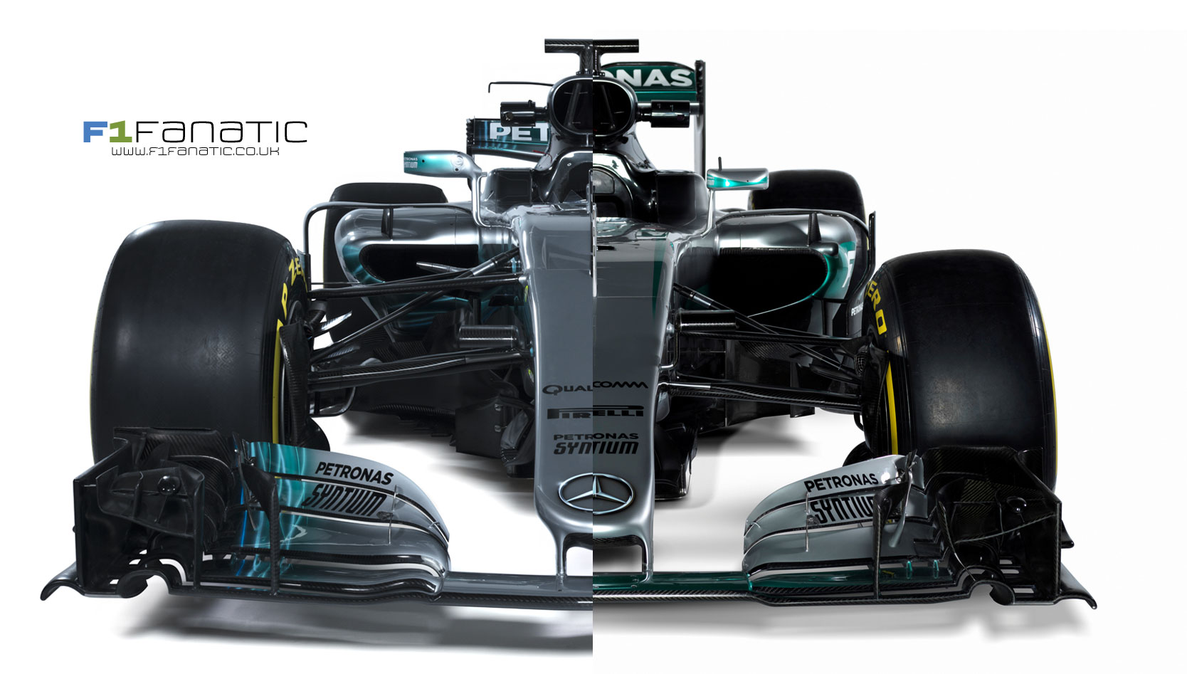 Compare The New 2017 Mercedes With Last Year S Model F1 Cars