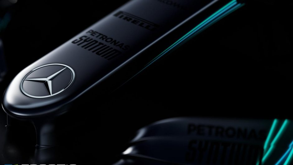 Mercedes teases first images of new F1 car