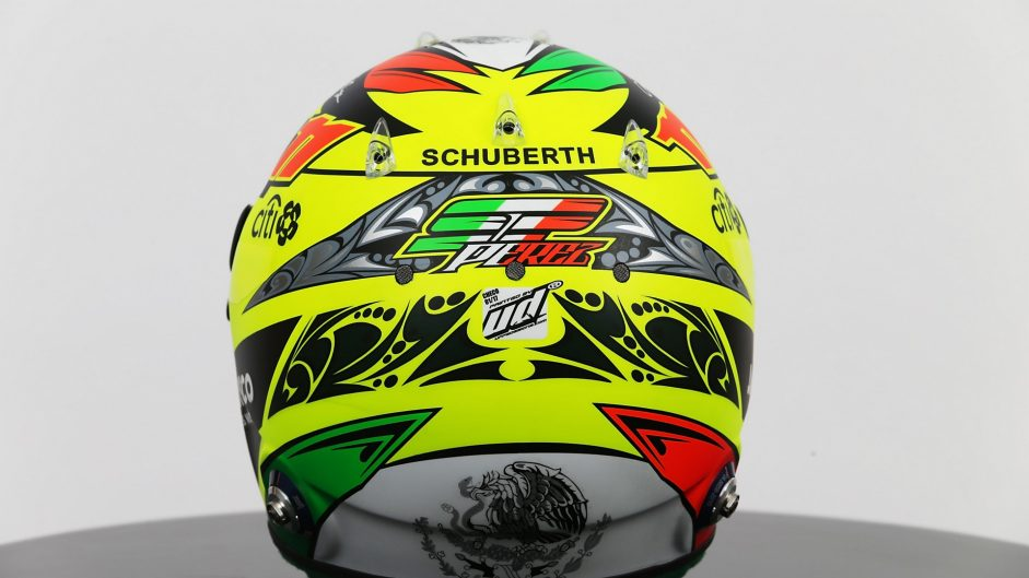 Sergio Perez helmet, Force India, 2017