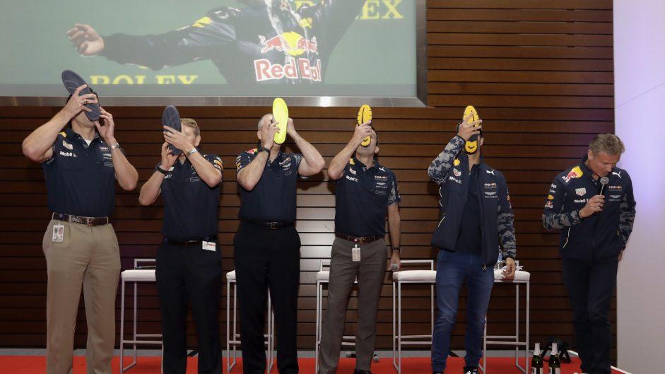 Caption Competition 122: Ricciardo's latest shoey