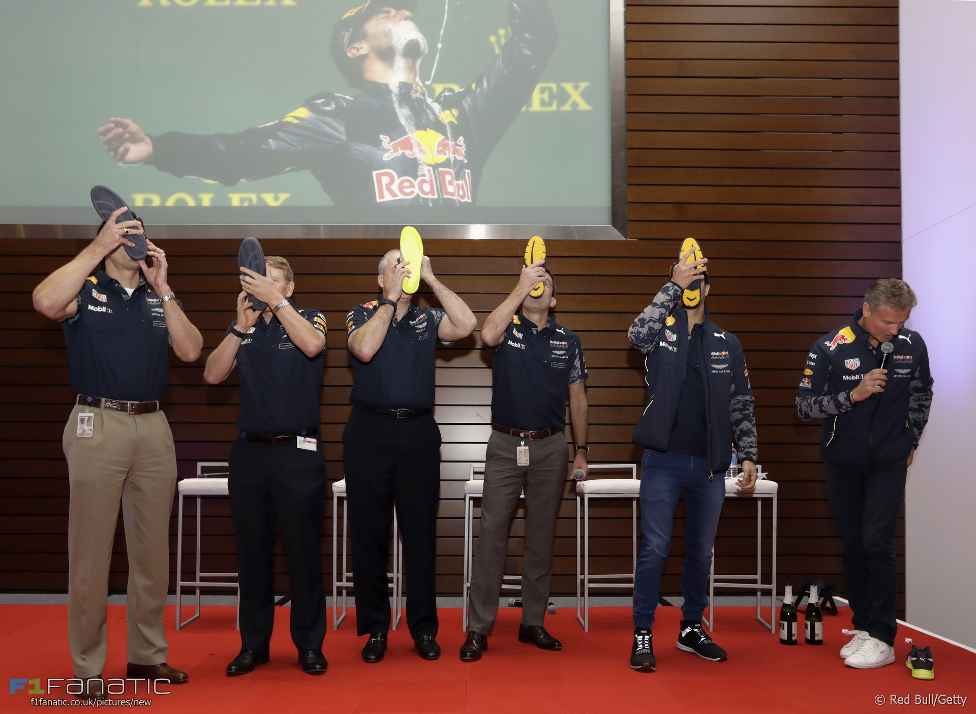 Daniel Ricciardo, David Coulthard, Red Bull, 2017