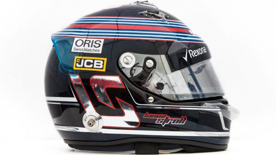 Lance Stroll helmet, Williams, 2017