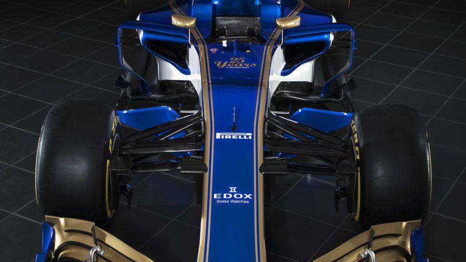Sauber C36 front top, 2017