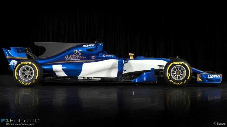 Sauber C36 side, 2017