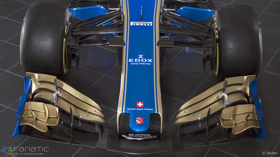 Sauber C36 nose, 2017