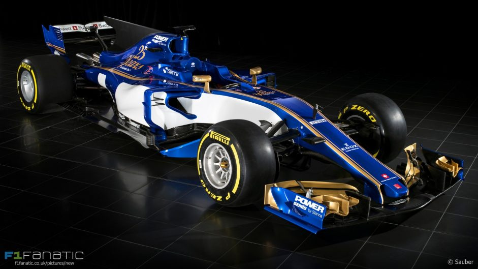 Pictures: Sauber reveals first images of its 2017 car