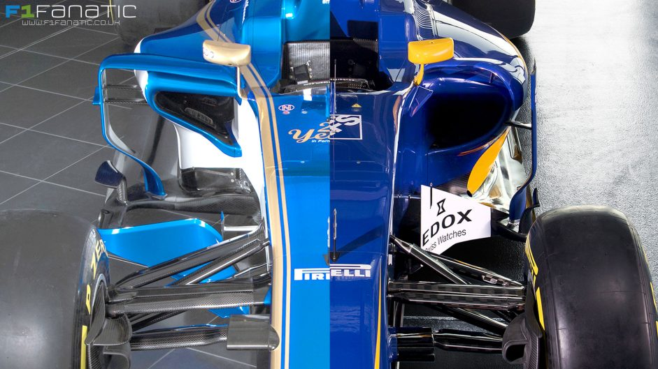 Compare the new 2017 Sauber with last year's model