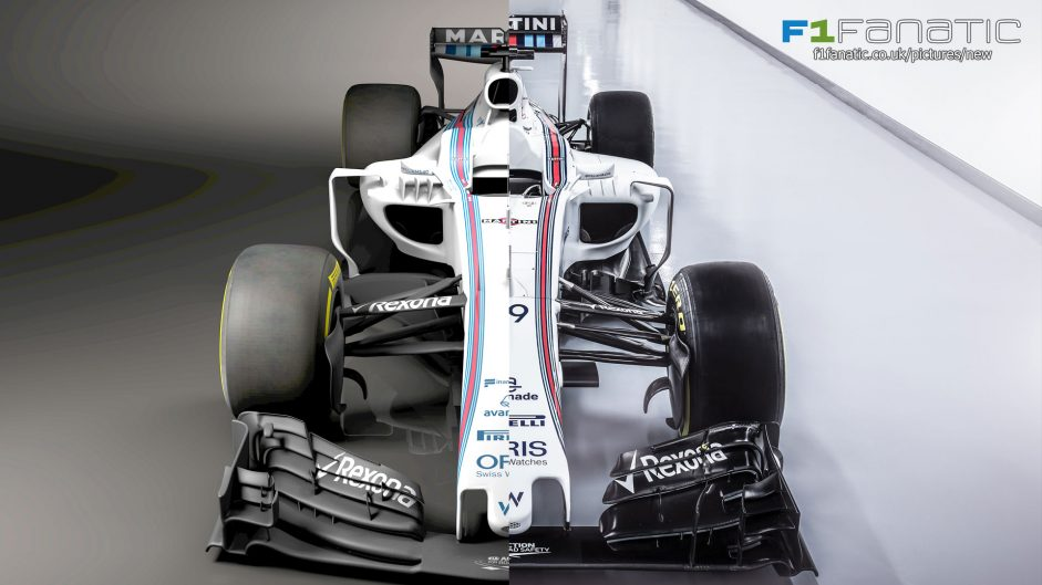 Compare Williams' new FW40 with their 2016 car