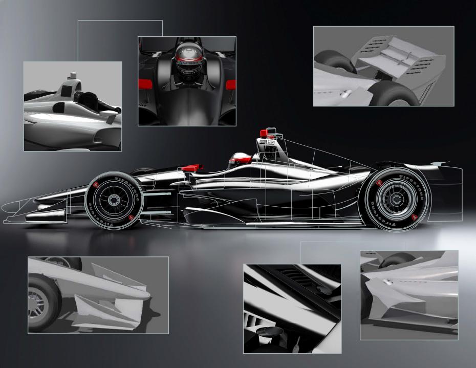 2018 IndyCar design rendering, 2017
