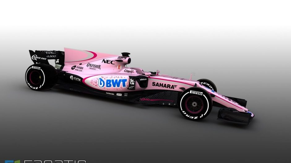 Force India VJM10 pink livery revealed, 2017