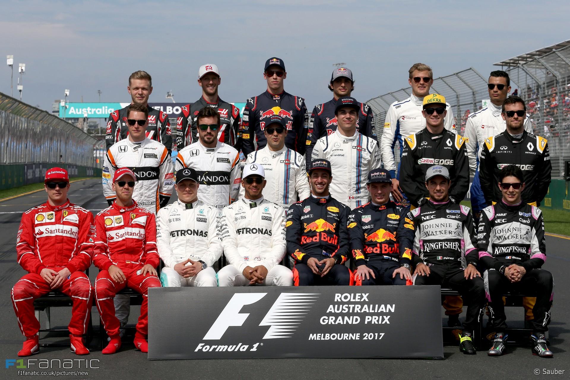 Drivers, Albert Park, 2017
