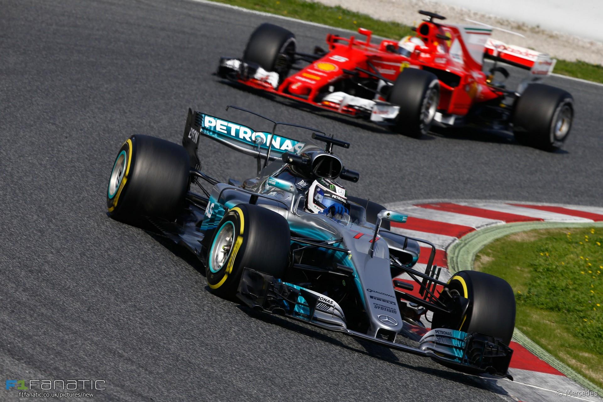 Valtteri Bottas, Sebastian Vettel, Circuit de Catalunya, 2017