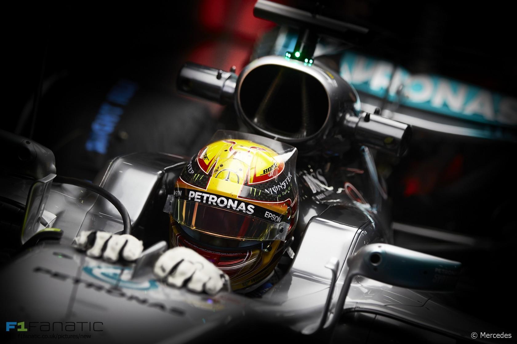 Lewis Hamilton Mercedes Circuit De Catalunya 2017
