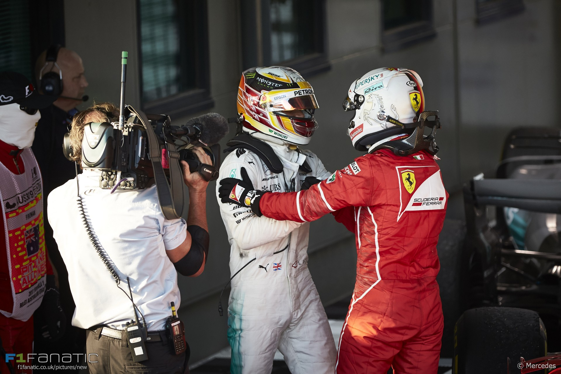 Lewis Hamilton, Sebastian Vettel, Albert Park, 2017