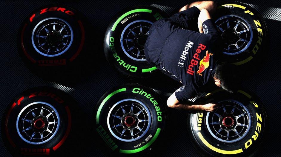 Tyres, Red Bull, Circuit de Catalunya, 2017