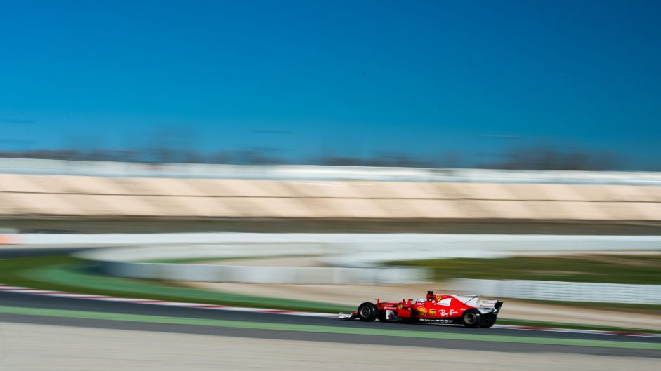 Sebastian Vettel, Ferrari, Circuit de Catalunya, 2017