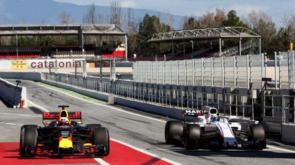 Daniel Ricciardo, Felipe Massa, Circuit de Catalunya, 2017
